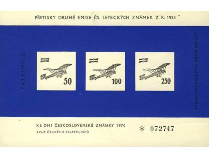 A-Výsadní letecký tisk 1923 v barvě modré