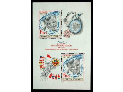 1981, 6Kčs aršík Gagarin, I.typ, Nr.A2482, **
