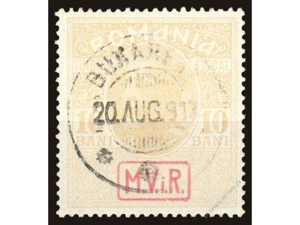 Rumunsko, 1917, 10B Zwangszuschlagsmarken, razítko