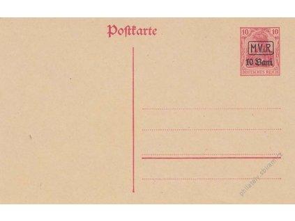 Rumunsko, 1917, dopisnice 10B/10Pfg Germanie
