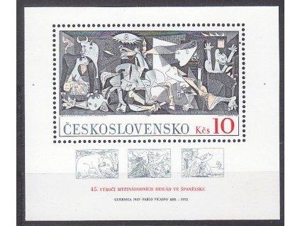 1981, aršík 10Kčs.P.Picasso, aršík se soutiskovými křížky, Nr.2496, **