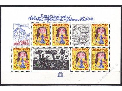 1982, aršík 2Kčs Lidice, Nr.A2538, **