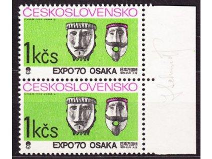 Schmidt, 1970, 1Kčs Osaka, podpisem, Nr.1818, **