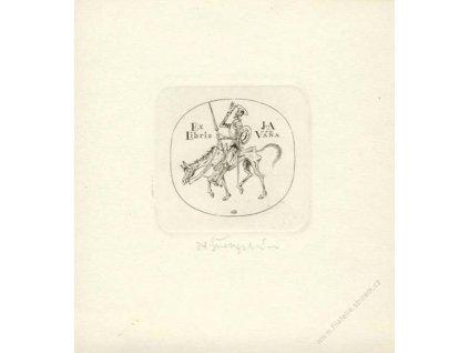 Švengsbír, podpis na Ex Libris J a A Váňa
