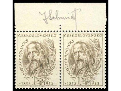 Schmidt, 1953, podpis na známkách, **