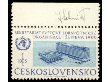 Schmidt, 1966, podpis na známce, **