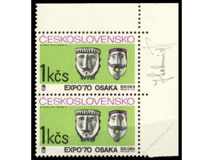Schmidt, 1970, podpis na známce, **