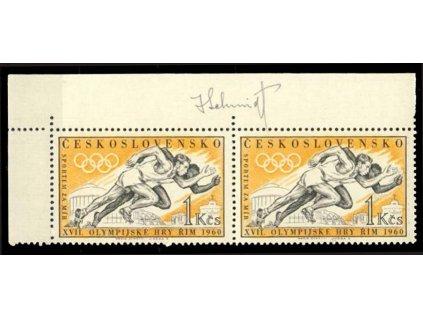 Schmidt, 1960, podpis na známkách, **