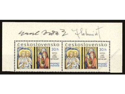 Schmidt, Vodák, 1967, podpis na známkách, **