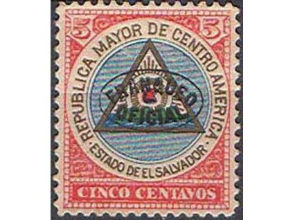 Salvador, 1900, 5C služební, MiNr.90a, * po nálepce