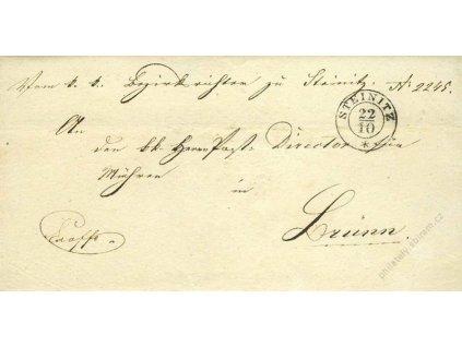 Steinitz, skládaný dopis z roku 1851