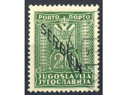 Serbien, 1941, 20Din doplatní, MiNr.8, razítkované