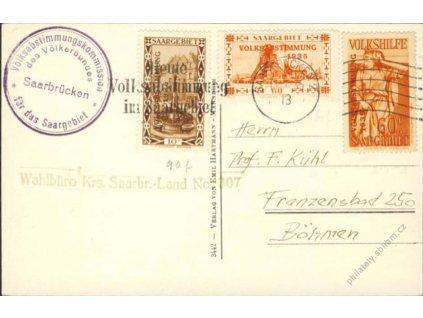 Saar, 1935, DR Saarbrucken, pohlednice