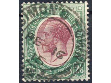 South Afrika, 1913, 2.6ShP Jiří V., razítkované