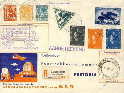 South Afrika, 1938, R-let dopis Amsterdam-Pretoria