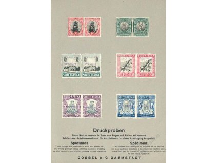 South Africa, Druckproben, list A5, Specimen