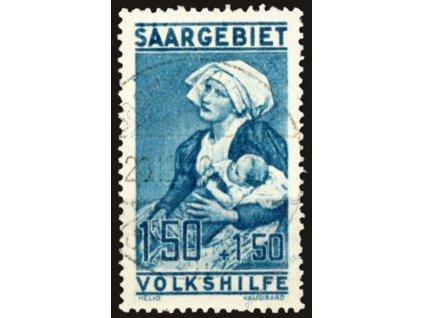 Saar, 1927, 1.50Fr Volkshilfe, MiNr.125, razítko