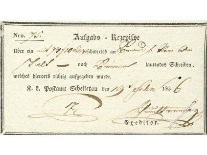 Schelletau, recepis z roku 1836, přeloženo