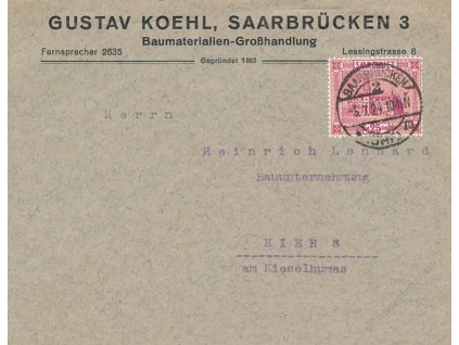 Saar, 1924, DR Saarbrücken, tiskopis
