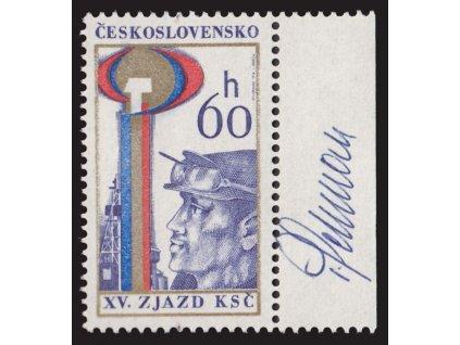 Schurmann, 1976, podpis na známce, **