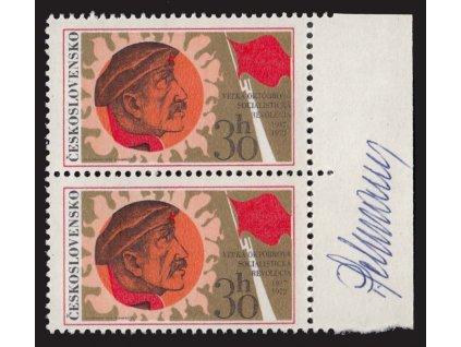Schurmann, 1972, podpis na známkách, **