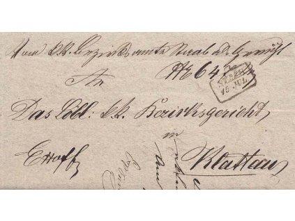 Staab, skládaný dopis z roku 1862
