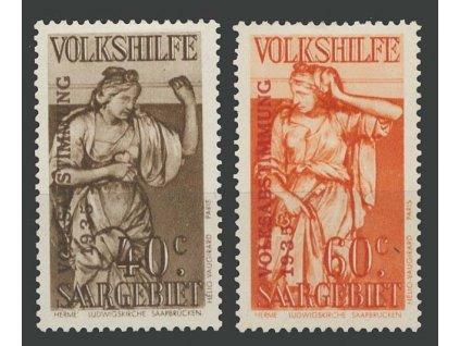 Saar, 1934, 40 a 60C Volkshilfe, MiNr.199,200, těžší *