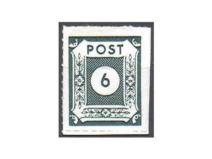 Ost-Sachsen, 1945, 6Pf černozelená, průseky