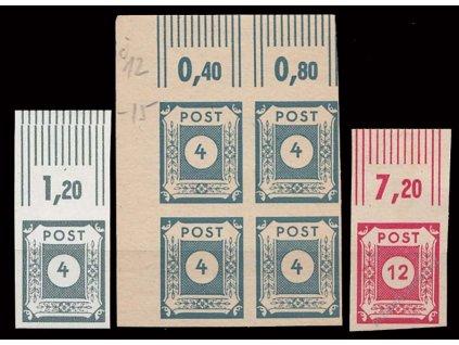 Ost-Saschen, 1945, 4, 6 a 12Pf, krajové kusy, **/*