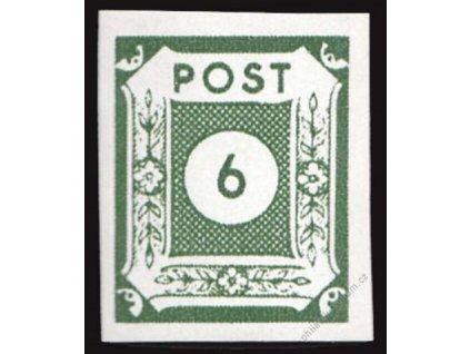 Ost-Saschen, 1945, 6Pf, zelená, MiNr.43A, **