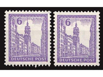 West-Sachsen, 1946, 6Pf fialová, MiNr.153X,Y, **