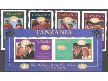 Tanzania, 1986, série a aršík, **