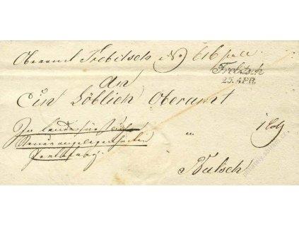 Trebitsch, skládaný dopis z roku 1840