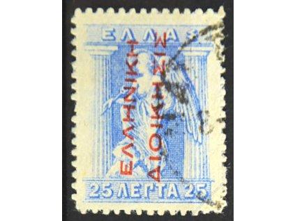 Turecko, 1912, 25L s červeným přetiskem, razítkované