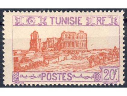 Tunis, 1926, 20Fr Divadlo, MiNr.145, * po nálepce