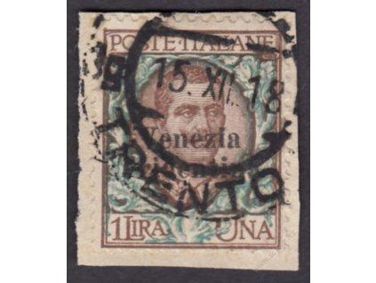 Trentino, 1918, 1L Emanuel, MiNr.26, výstřižek