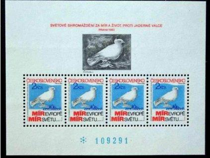 1983, 2Kčs aršík Shromáždění za mír, Nr.A2597, **