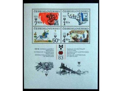 1983, 50h-7Kčs aršík BIB, Nr.A2604, **