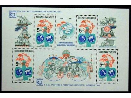 1984, 5Kčs UPU s přítiskem Hamburg, Nr.A2653, **