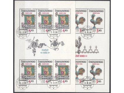 1984, 3-4Kčs Pražský hrad, Nr.A2654-5, razítkované, denní razítko