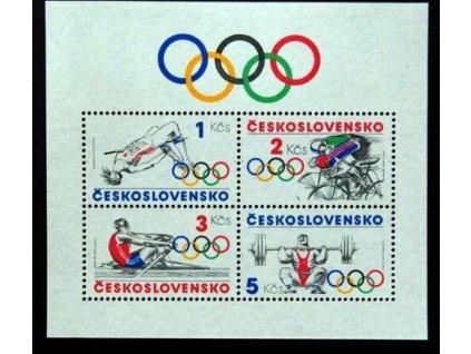1984, 1-5Kčs aršík Sport, Nr.A2667, **