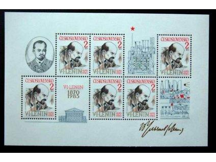1985, 2Kčs aršík Lenin, Nr.A2688, **