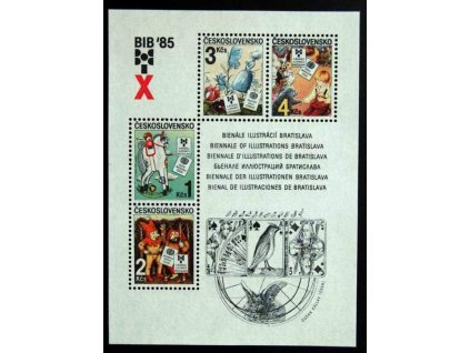 1985, 1-4Kčs aršík BIB, Nr.A2713, **
