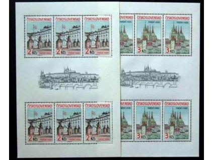 1985, 2-3Kčs aršíky Pražský hrad, Nr.A2717-8, **