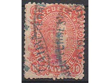 Venezuela, 1880, 10B Bolivar, MiNr.32, razítkovaná