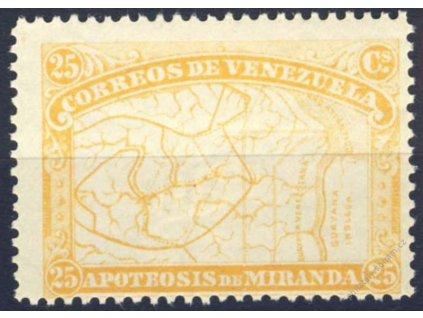 Venezuela, 1896, 25C Mapa, MiNr.50, těžší *