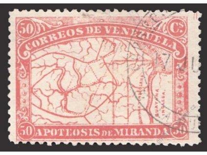 Venezuela, 1896, 50C Mapa, MiNr.51, razítkované