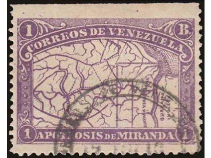 Venezuela, 1896, 1B Mapa, MiNr.52, razítkované, dv