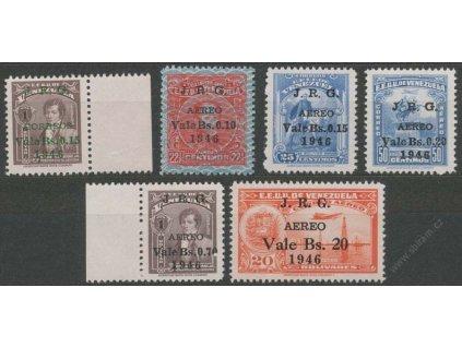 Venezuela, 1947, 0.15-20B letecká série, **