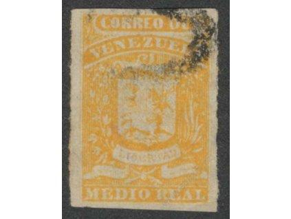 Venezuela, 1859, 1/2R Znak, MiNr.1, razítkované, dv